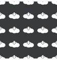 Straight black cloud download pattern vector image vector image