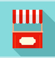 street xmas kiosk icon flat style vector image vector image