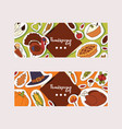 thanksgiving food traditional turkey on holiday vector image vector image