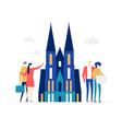 travel to germany - colorful flat design style vector image
