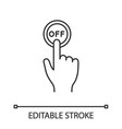 turn off button click linear icon vector image