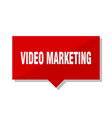 video marketing red tag vector image vector image