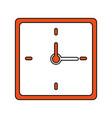 wall clock icon image vector image