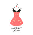 women fashion logo design template dress emblem vector image vector image