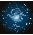 Zodiac sign pisces vector image vector image