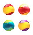 abstract circle ribbon symbol logo vector image