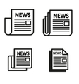 black newspaper icons set vector image