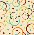 Retro background with circle and dots vector image