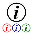 information sign info round symbol vector image