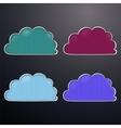 retro clouds vector image