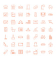 49 home icons vector image vector image
