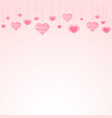 abstract background with falling paper hearts vector image vector image