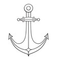 anchor outline drawing hand drawn sketch vector image vector image
