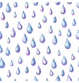aquarelle seamless pattern with raindrops vector image vector image