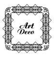 art deco frame royal decorative geometric vector image vector image