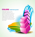 artistic colorful background vector image vector image