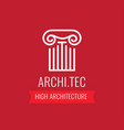 beautiful logotype for architecture company in vector image
