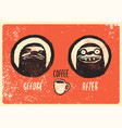 before and after coffee vector image