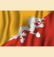 bhutan realistic waving flag national country vector image vector image