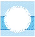 blue background with with round symbol icon vector image vector image