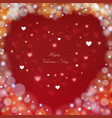blur colorful valentine day background with hearts vector image vector image