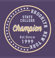 brooklyn state college vector image vector image