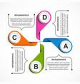 Business options infographic timeline design