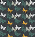 butterfly print fashion yellow white black gr vector image vector image