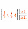 cardiogram composition icon inequal items vector image vector image