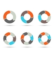 circle arrows set for infographic diagram vector image vector image