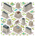 City Map Set 05 Tiles Isometric vector image vector image