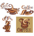 coffee cups logo template vector image
