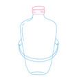 color line long mason jar with wire handle design vector image vector image