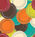 Colorful seamless pattern with sewing round shapes vector image vector image