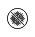 corona virus stop sign vector image vector image