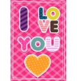 Cute greeting card for Happy Valentine S Day vector image