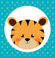 cute tiger head tender character vector image vector image