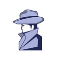 cyber security agent icon vector image vector image
