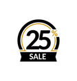 discount card with 25 percent sale advertising