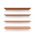 Empty wall book shelf wood shelves vector image