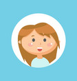 excited cute smiling girl kid with smile on face vector image