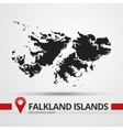 Falkland islands map vector image vector image