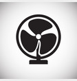 fan icon on white background for graphic and web vector image
