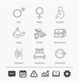 fertilization pregnancy and pediatrics icons vector image vector image