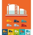 Flat design oil towers vector image