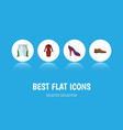 flat icon dress set of clothes male footware vector image vector image