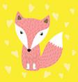 fox for fashion print vector image