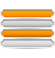gold silver bronze platinum banners plaques bar vector image