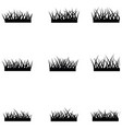 grass icon set vector image vector image