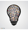 group people in bulb vector image vector image